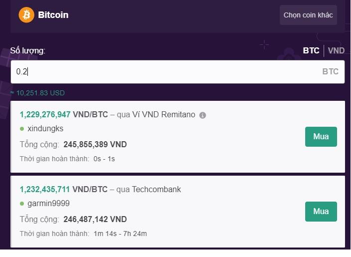 mua nhanh bitcoin